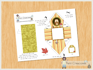 "PRINTABLE GIFT (or treats) box ""Owl house"" (digital template) - DIY - gift idea"