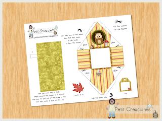 "PRINTABLE GIFT (or treats) box ""Owl house"" (digital template) - DIY - gift idea"