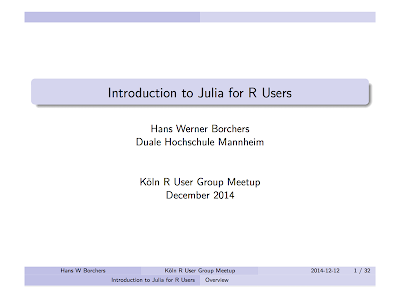 Julia introduction for R users