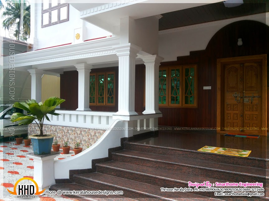finished luxury home design with interiors kerala home