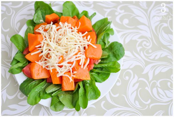 salada abóbora assada
