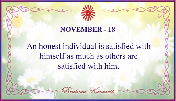 Thought For The Day November 18