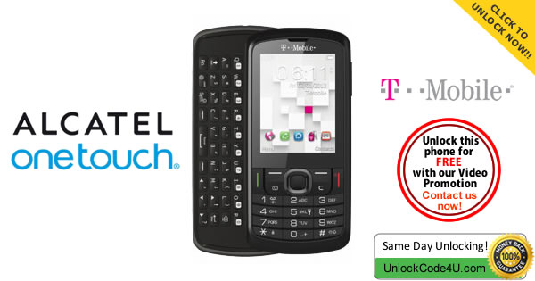 How to Unlock Alcatel OT 875T from T-mobile USA by unlock code