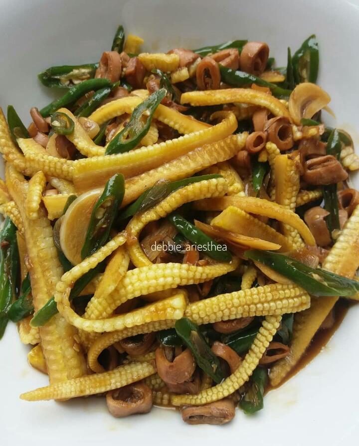 Tumis Jagung Muda : tumis, jagung, Resep, Masakan, Sayur, Jagung