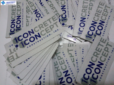 Custom Reflective Stickers - Icon Construction, Inc., Cavite, Philippines