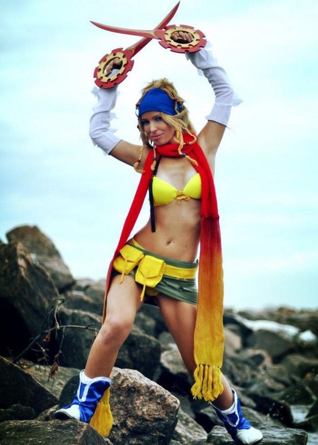 Rikku de Final Fantasy X e Final Fantasy X2