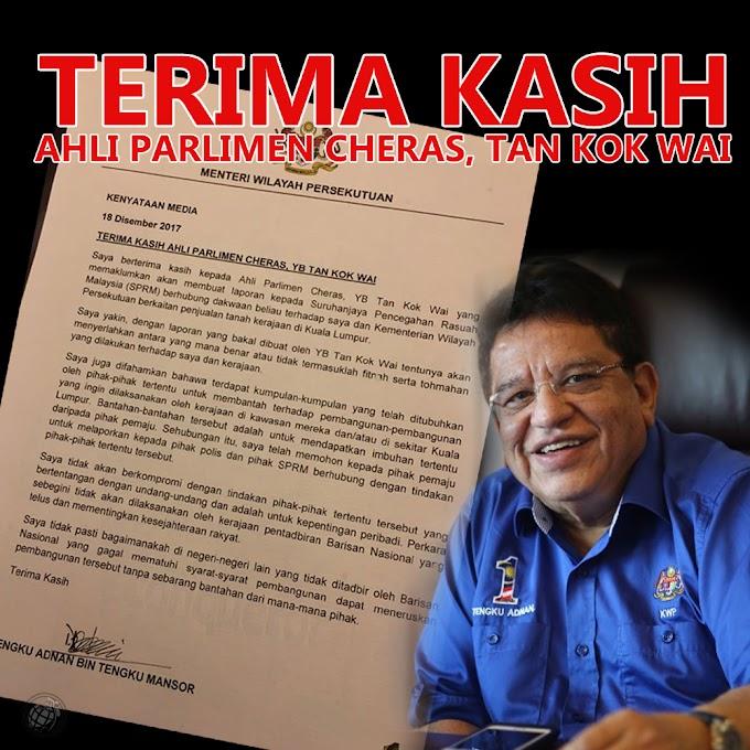 Ahli Parlimen Cheras Lapor SPRM 'Salahlaku' Menteri Wilayah Persekutuan Hahaha #Negaraku #WilayahDihatiku