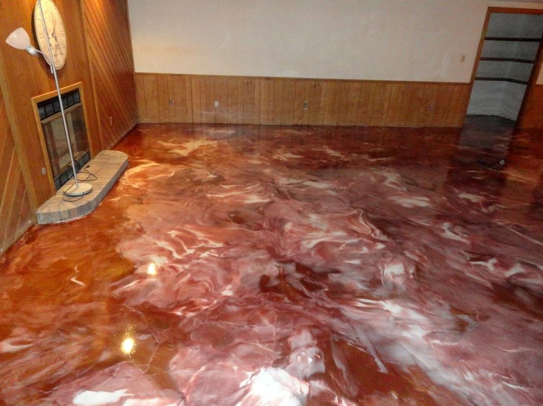 Pure metallic metallic epoxy floor coating pictures for Diy stone floor