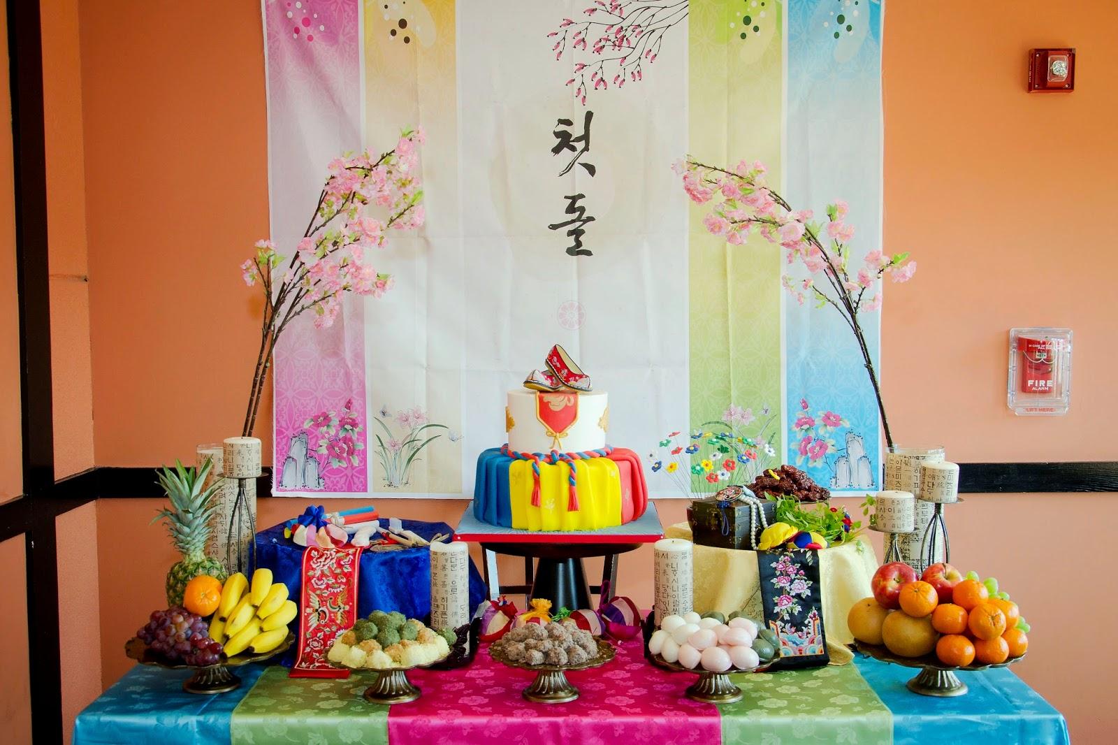 korean first birthday photography: a Korean first birthday table   all God's creations  korean first birthday