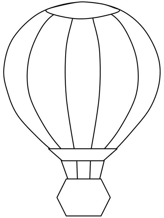 Tranh tô màu khinh khí cầu ngộ nghĩnh