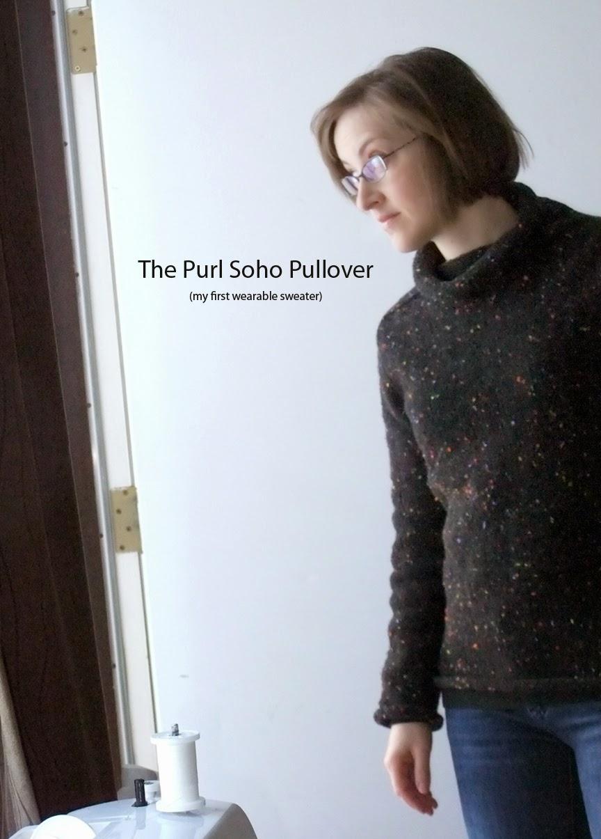 Trumbelina Sews: Purl Soho Pullover Sweater
