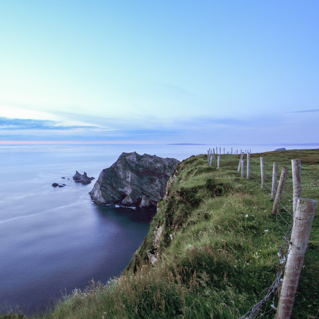View from Glen Head looking north along the coast