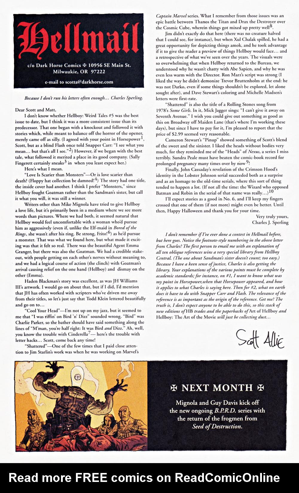 Read online Hellboy: Weird Tales comic -  Issue #7 - 31