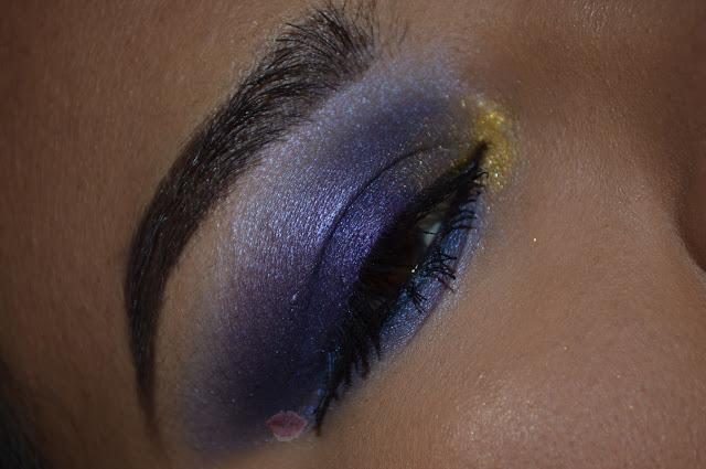 Trucco viola e oro con la palette Saint & Sinner di Kat Von D Beauty