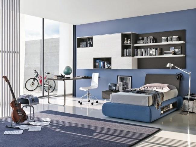 Dormitorios juveniles en celeste y gris   dormitorios colores y ...