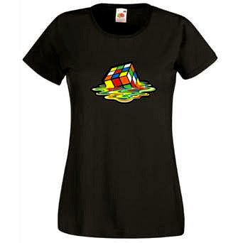 Melting Rubik's Cube T-shirt for Women