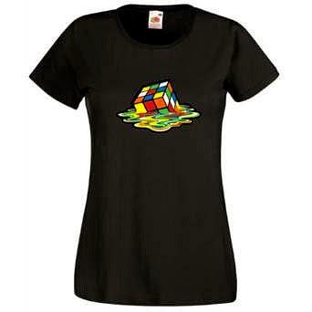 Melting Rubik's Cube T-shirt for Women
