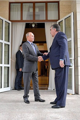 Vladimir Putin and President of Tajikistan Emomali Rahmon.