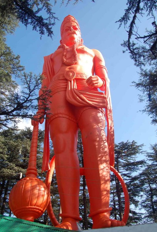 Picture of tallest Hanuman Murti Statue at Jakhu Temple Shimla Himachal Pradesh