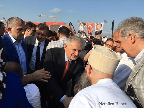Cübbeli Ahmet Hoca Demokrasi ve Şehitler Mitingine Katıldı