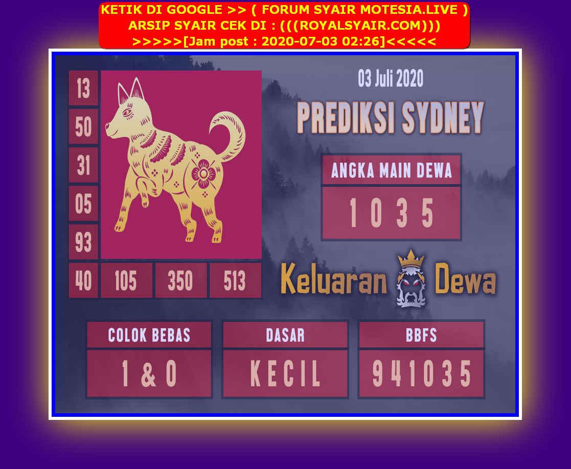 Kode syair Sydney Jumat 3 Juli 2020 208
