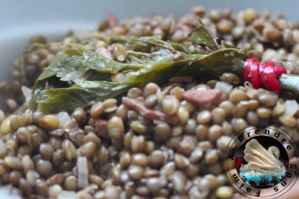 Salade de lentilles vertes du Puy (pas à pas en photos)