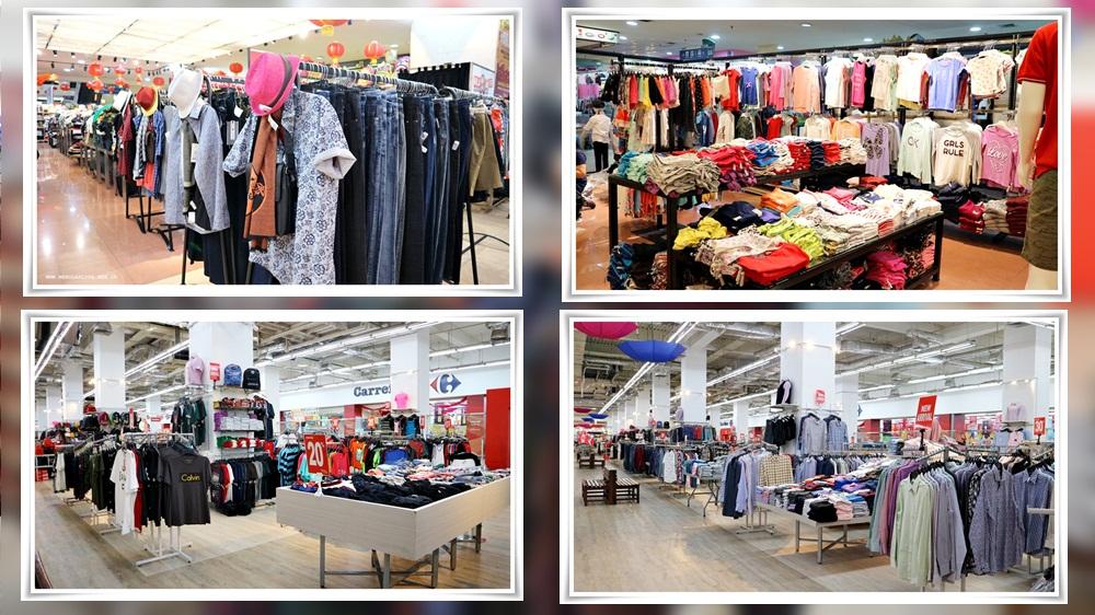 contoh pakaian gaya kasual pria dan wanita di factory outlet Mangga Dua Square