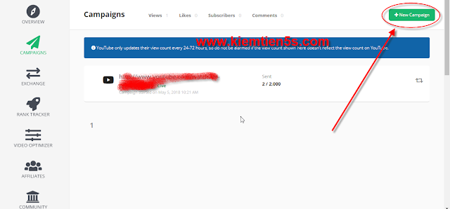 Hướng dẫn tăng view cho youtube miễn phí - bước 1