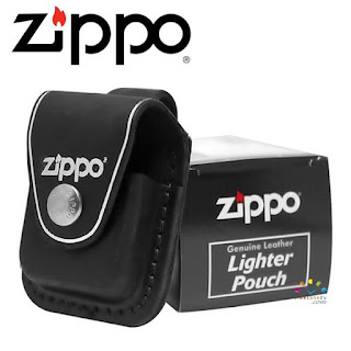 ZIPPO Genuine Leather Lighter Pouch (Black)