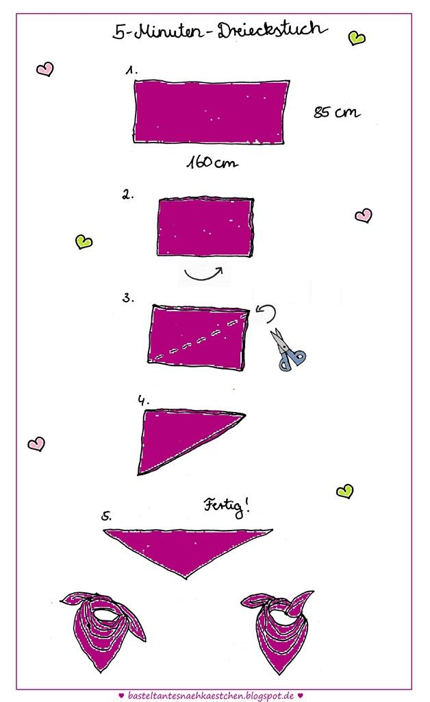 5- Minuten Dreieckstuchs ohne nähen selbst gemacht (Anleitung)