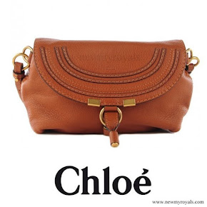 Crown-Princess Mary carried CHLOE Calfskin Marcie Pochette Crossbody Bag