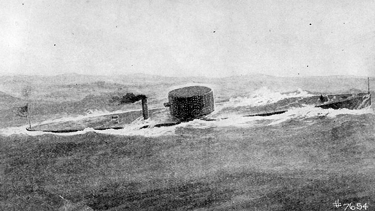 the USS Monitor at sea