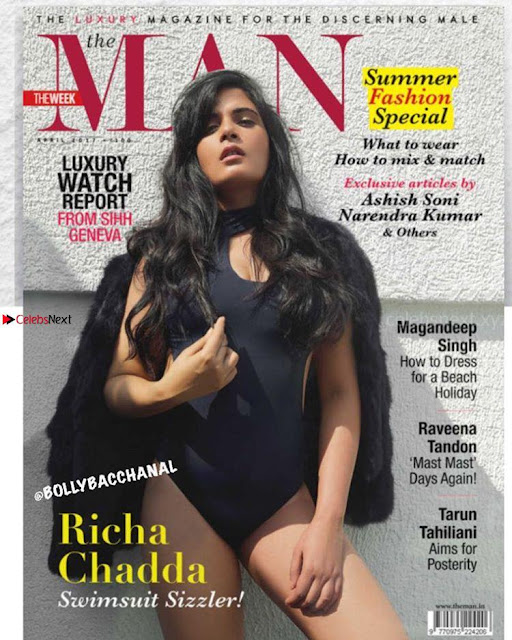 Richa Chadha Spicy Swimsuit Scans From The Man Magazine April 2017   4.jpg
