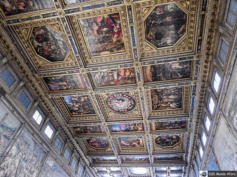Sala dos Quinhentos - Palácio Vecchio - Diário de bordo: 2 dias em Florença