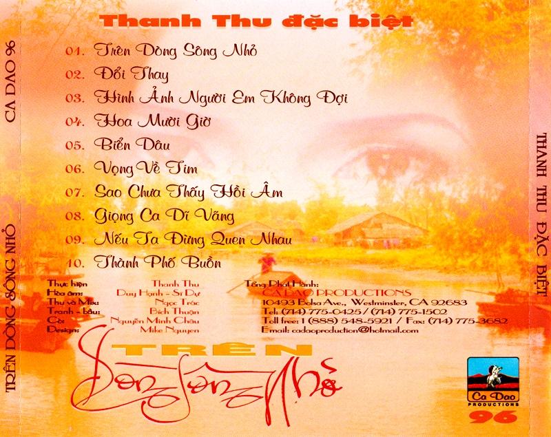 Ca Dao CD096 - Thanh Thu - Trên Dòng Sông Nhỏ (NRG)