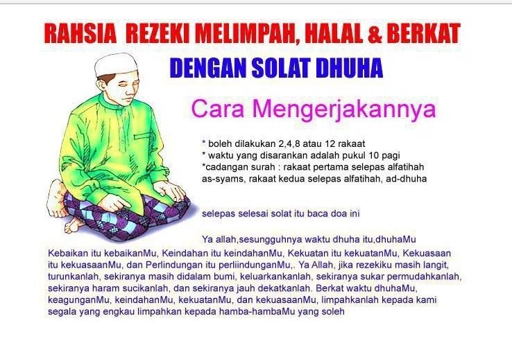 Inilah Tuntunan Bacaan Dan Doa Sholat Dhuha Sesuai Hadis Nabi Saw