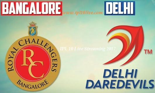 RCB vs DD IPL 2017 live streaming Match Prediction 8 April 2017