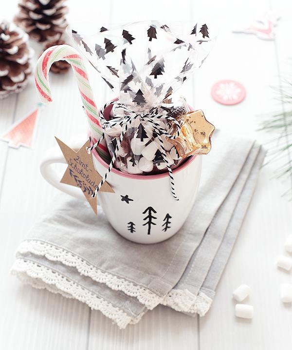 Last Minute Geschenkidee Zimt Schokolade im Becher