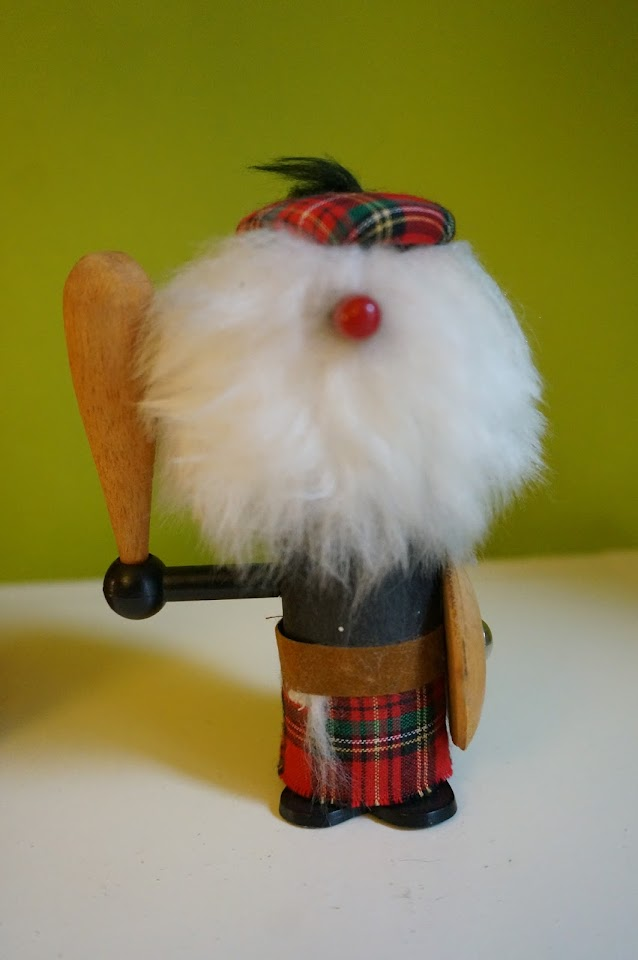 vintage scottish wooden figure