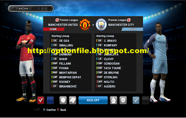 Option File PES 2013 Full Transfer Musim 2017/2018