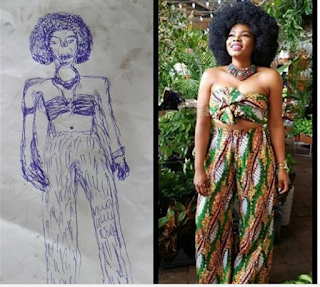 Yemi Alade's followers says she looks like this IG artwork of her, who agrees?