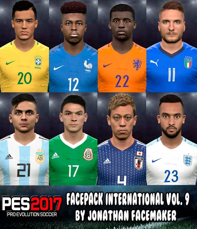 PES 2017 Facepack International Vol. 9 By Jonathan Facemaker
