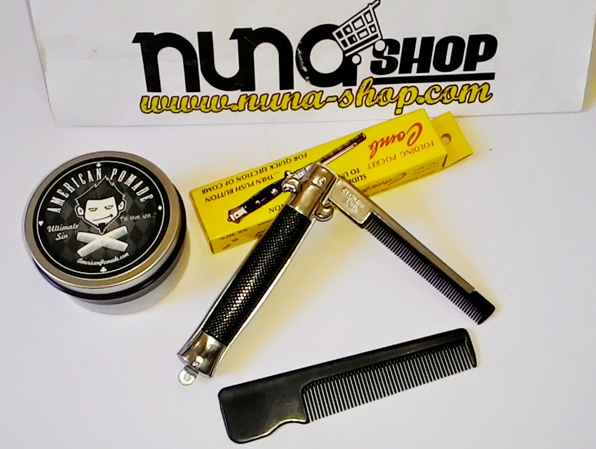 Paket Hemat American Pomade Ultimate Sin + Switchblade Comb