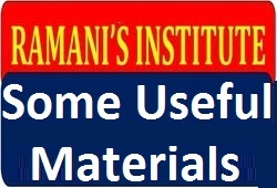 Useful Study Material By Ramani Institute