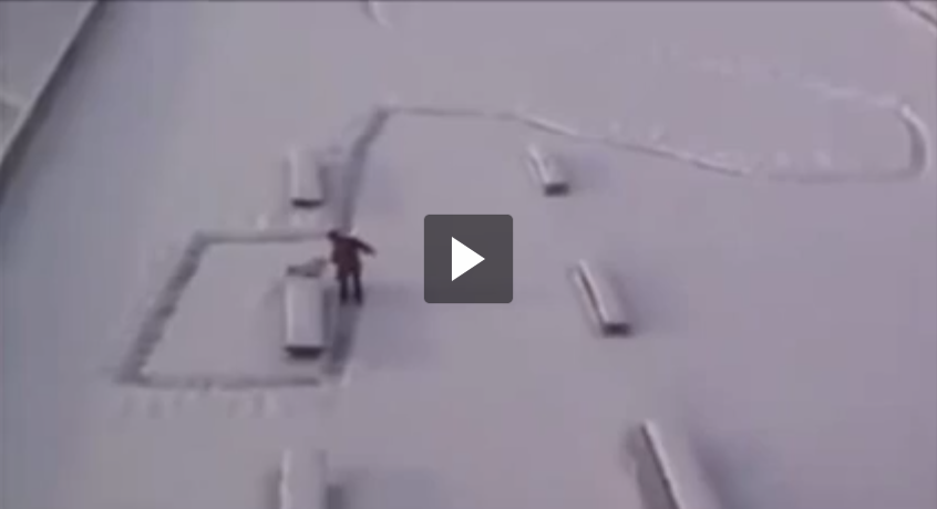 THIS IS HILARIOUS! Janitor's Revenge How to annoy people when it snows