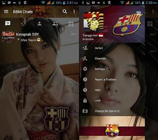 BBM Mod Change Background with Barcelona v3.0.1.25 Apk Terbaru