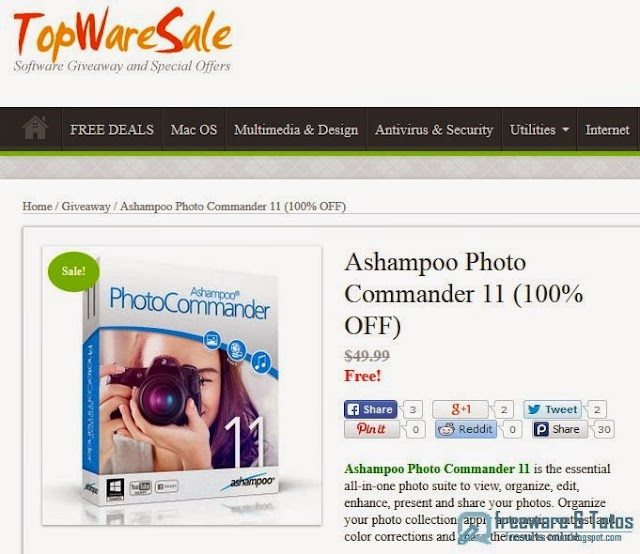Offre promotionnelle : Ashampoo Photo Commander 11 gratuit !