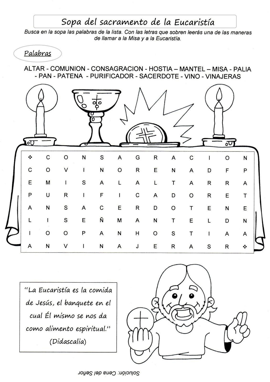 Colorear Material Catequesis De Primera Comunion Para Niños Compartir Materiales