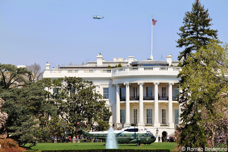 Marine One on the White House Lawn Washington, DC