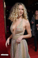 Jennifer Lawrence in a golde glittering gown at Red Sparrow Premiere in London ~  Exclusive Galleries 021.jpg